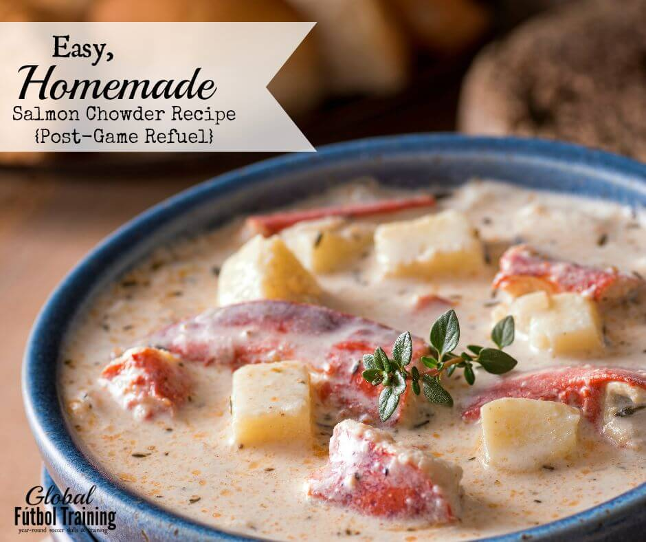 Easy Homemade Salmon Chowder Recipe {Post-Game Refuel}
