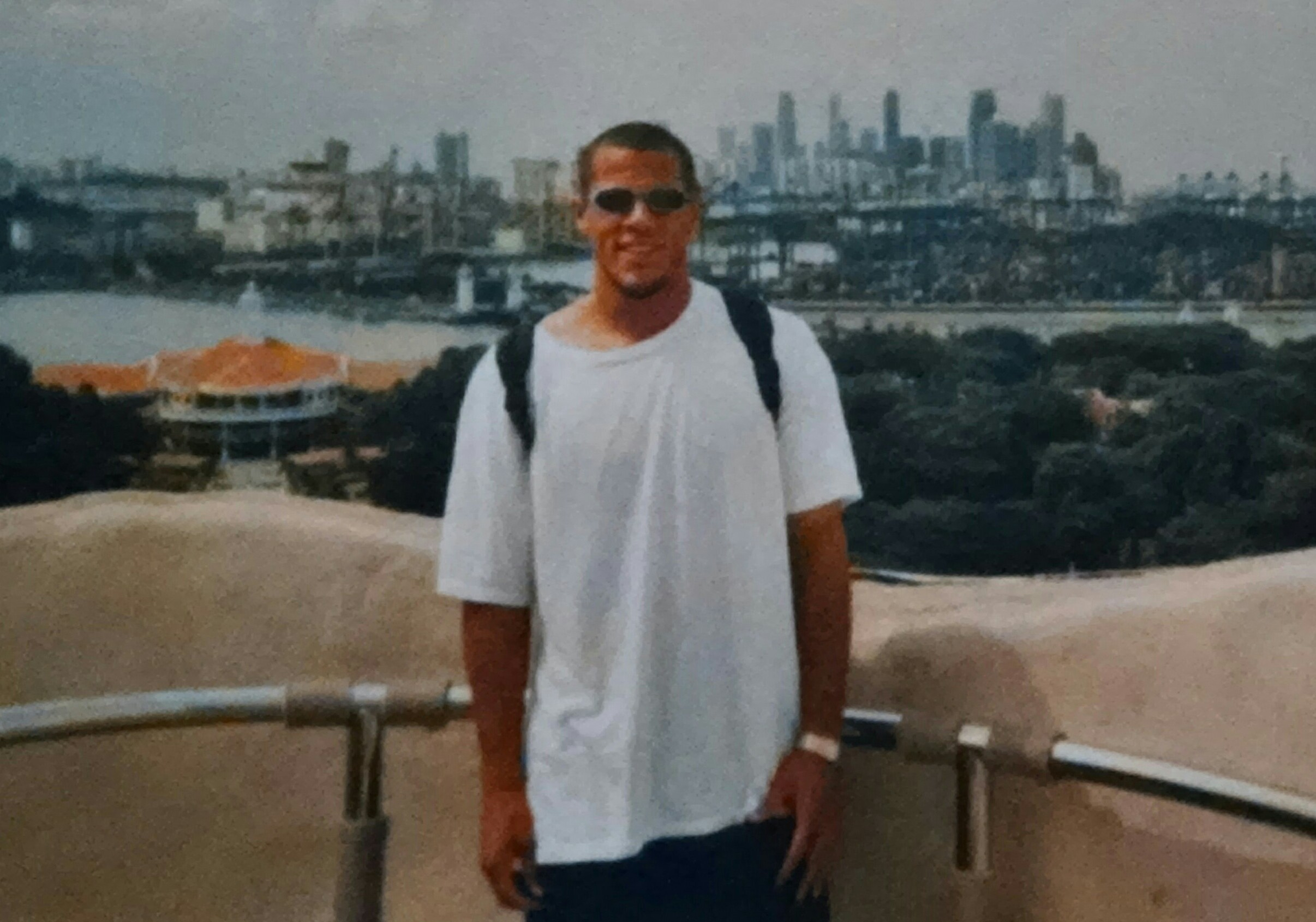 Jeremie Piette in Singapore as a professional soccer player - from the personal collection
