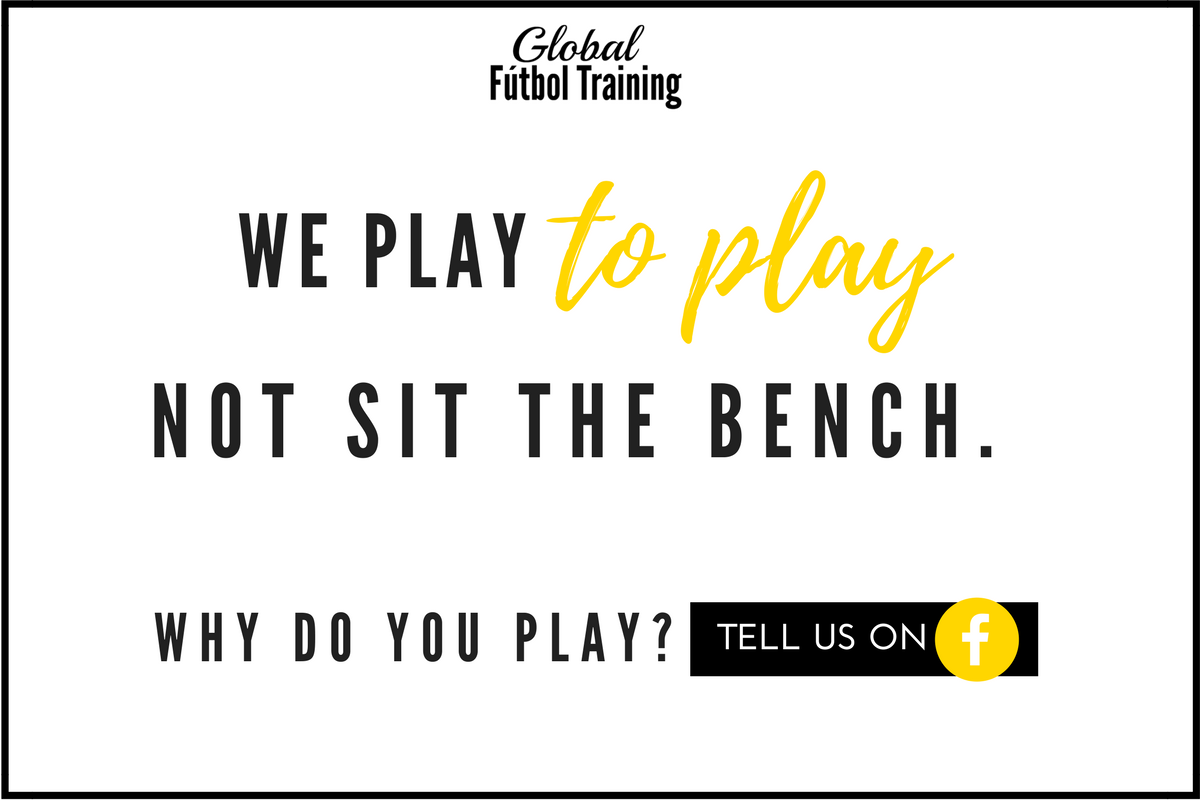 we play soccer to play, not sit the bench in sports. tell us why you play. Private soccer lessons coach improves confidence