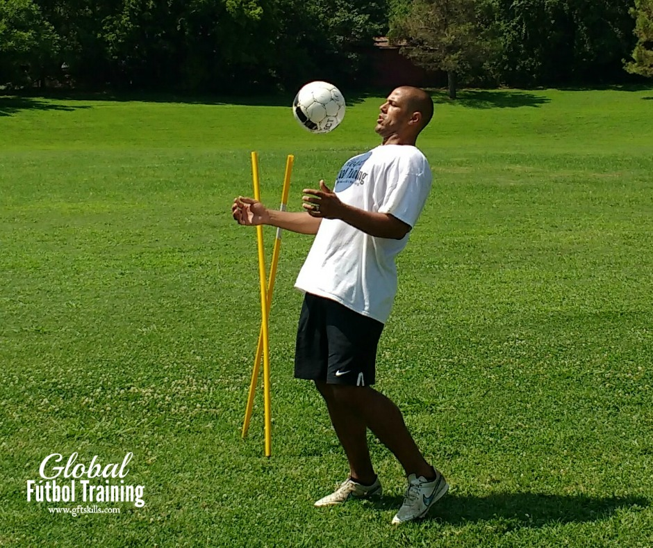 how to receive the ball at the chest private soccer skills trainer coach DFW online courses best in America