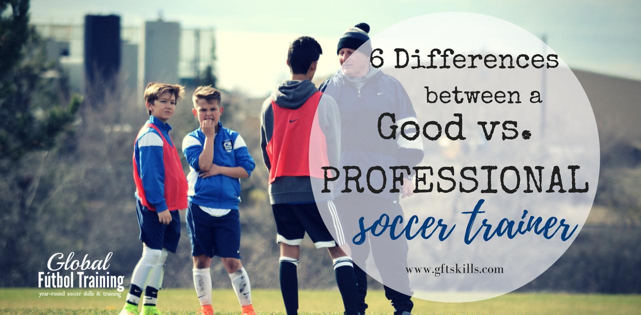 A good vs. professional soccer trainer