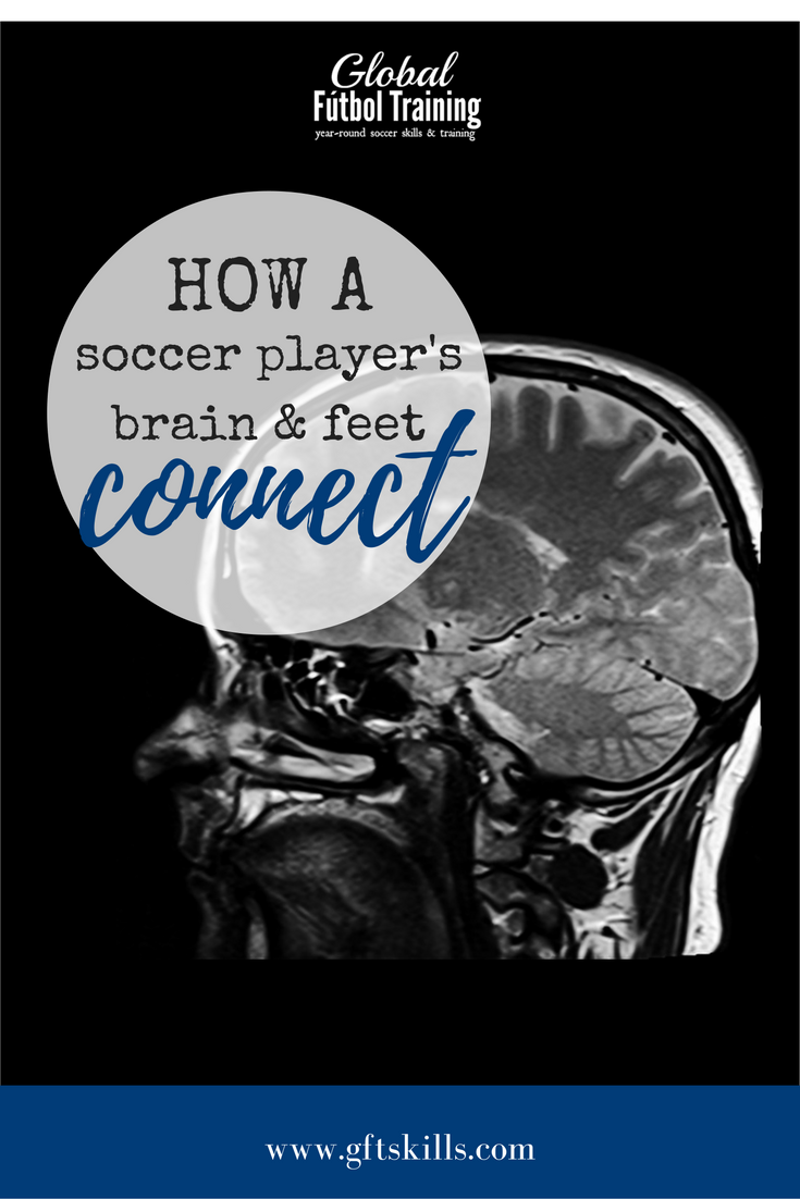How a soccer player's brain and feet connect