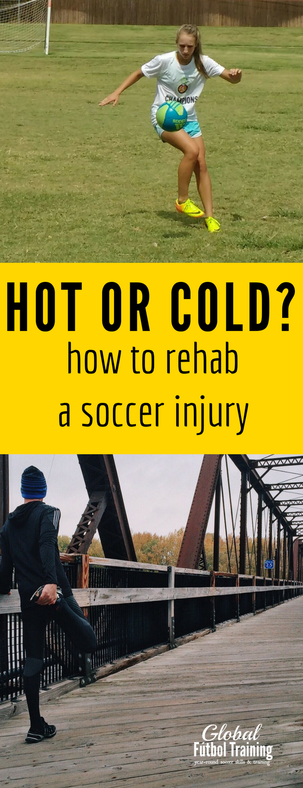 learn the best ways to prevent or rehab a soccer injury whether it's fresh or not and when to use heat or ice!