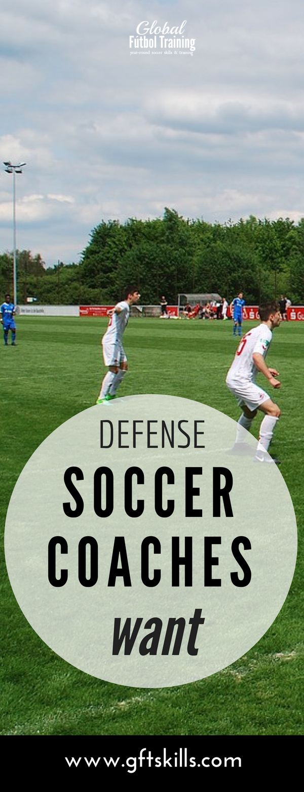 Goal-side defending futbol coaches want to see. Learn the best tips to improve your soccer game.