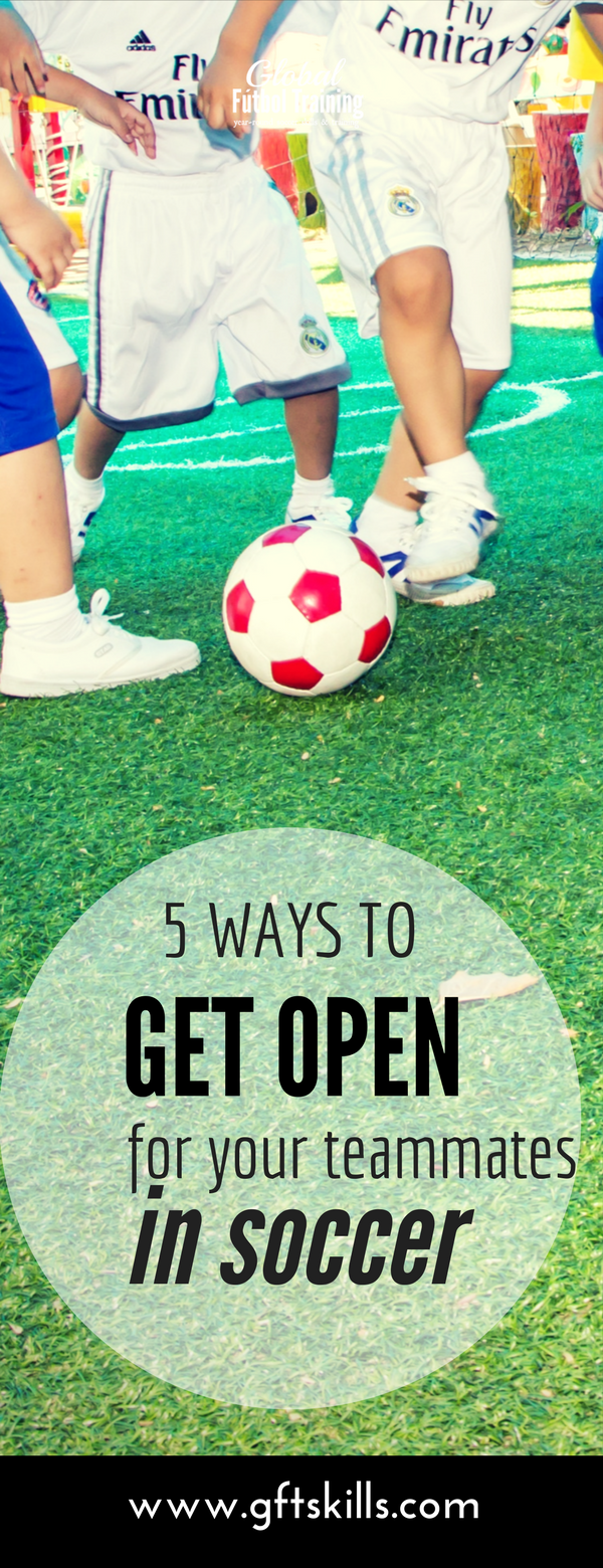 Learn the 5 ways to get open for your teammates in soccer plus how to make runs off the ball in a game.