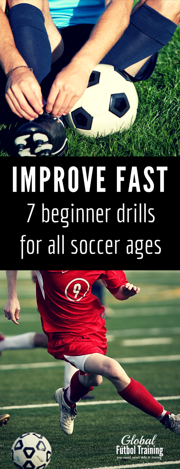 Learn how to improve fast with these 7 beginner soccer drills for all ages