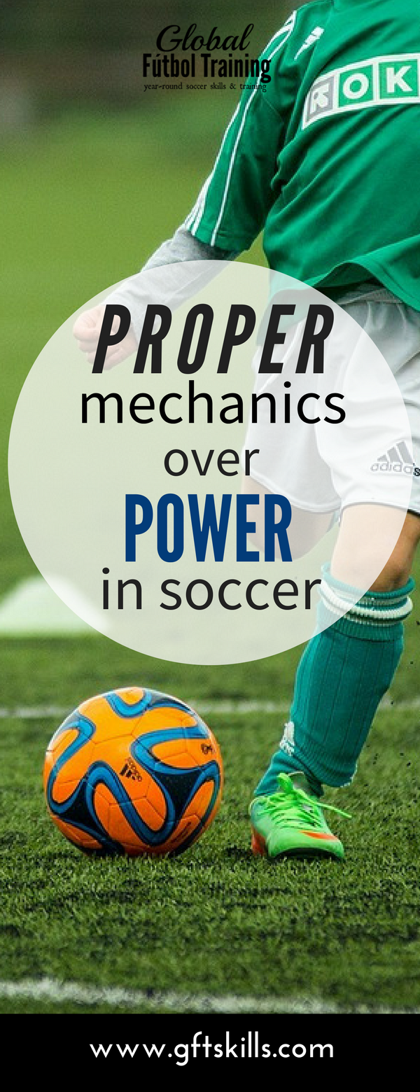 Learn how proper mechanics is better than power when it comes to kicking a soccer ball.