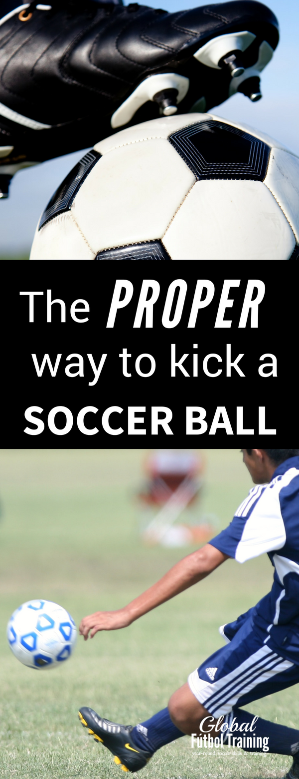 How to kick a soccer ball with proper mechanics and accurate ball placement