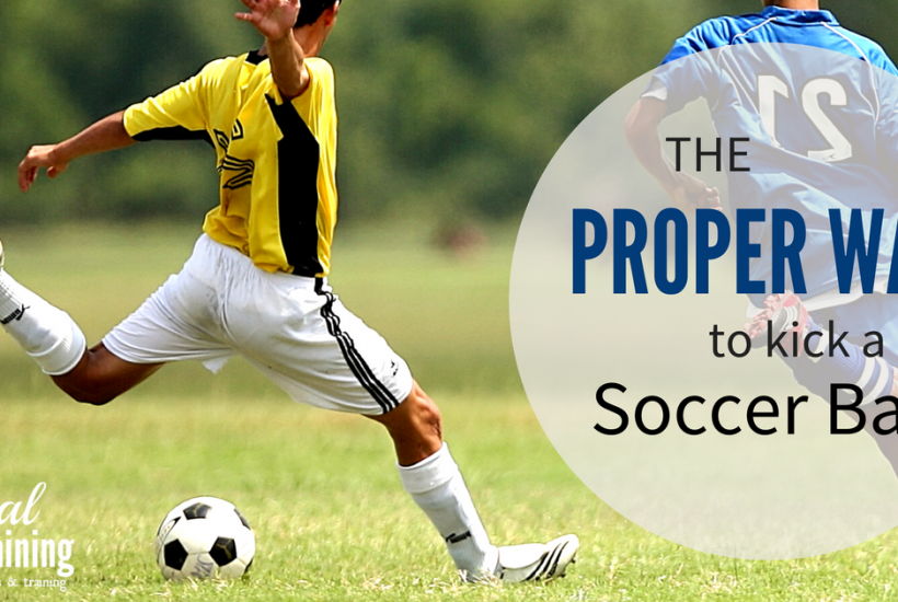 Learn the proper way to kick a soccer ball from pro trainer Jeremie Piette.