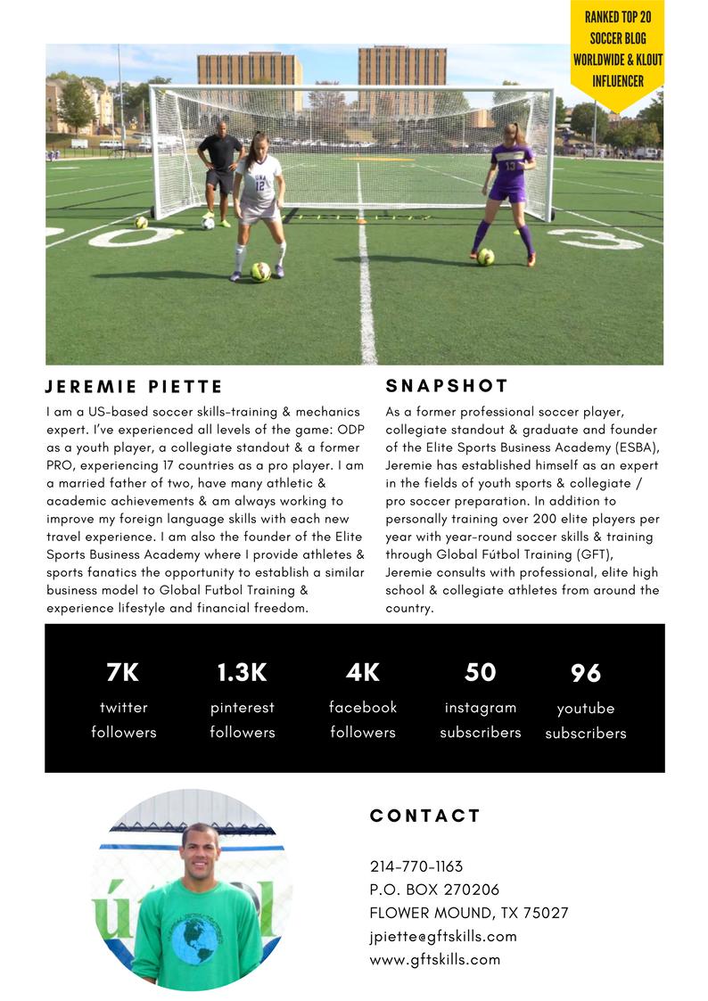 expert ranked KLOUT influencer for collegiate & pro soccer & soccer development