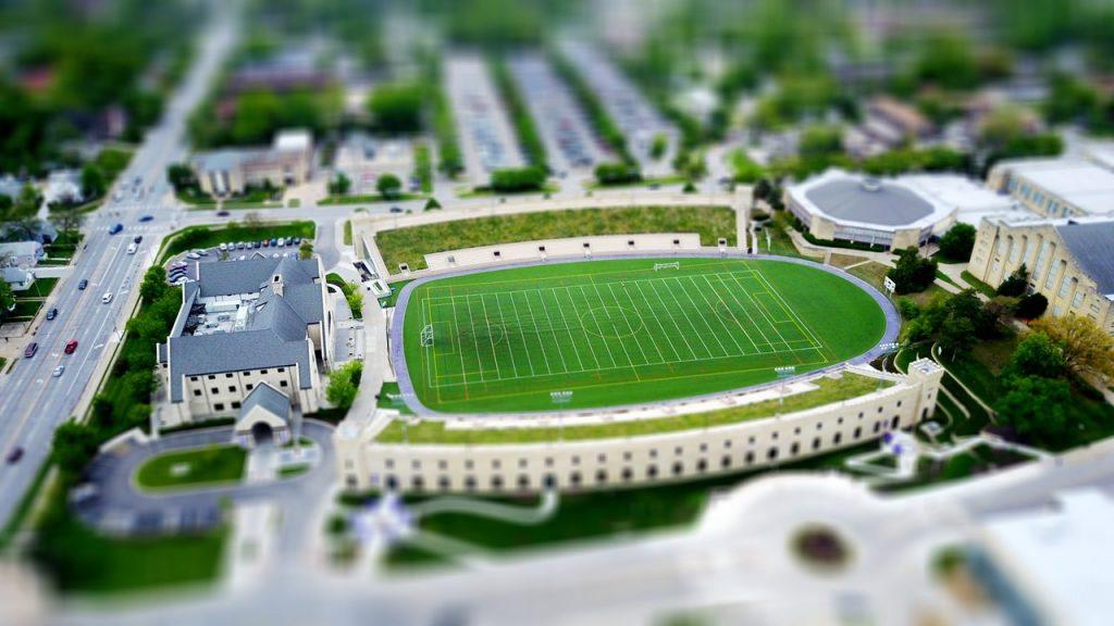 college soccer stadium university sports