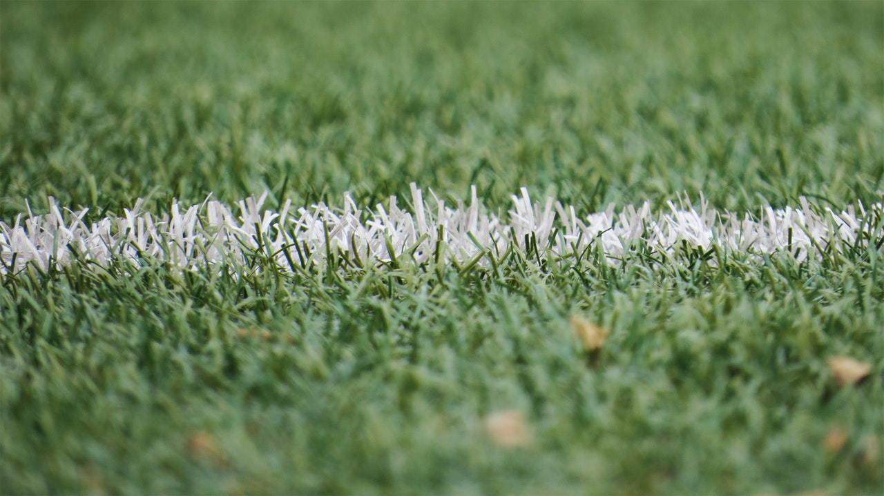 soccer field football pitch boundary line grass