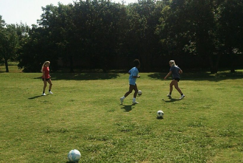 first touch passing short in soccer