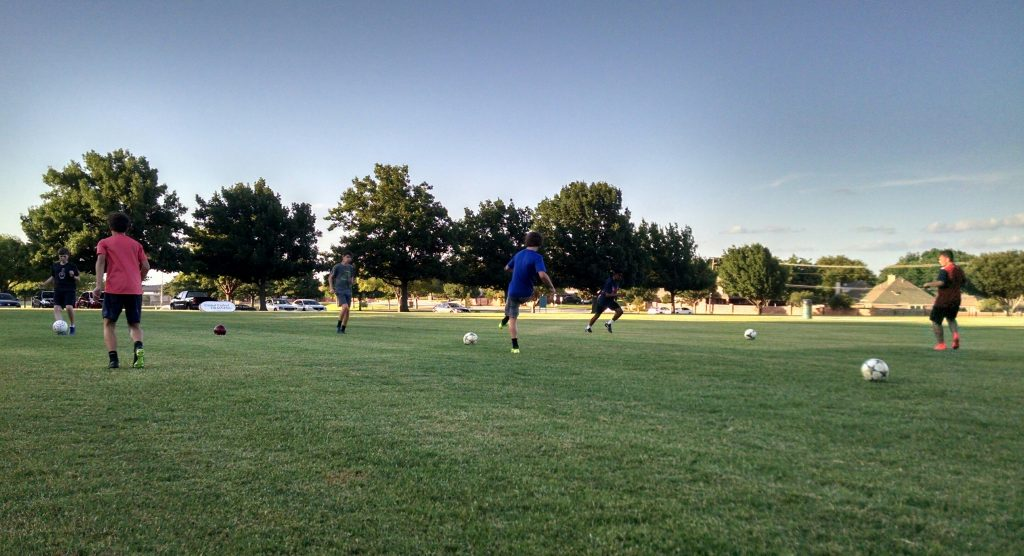 soccer training unopposed passing skills