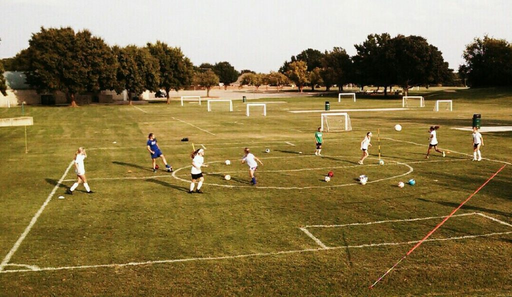 soccer training gftskills girls small group passing shooting drills