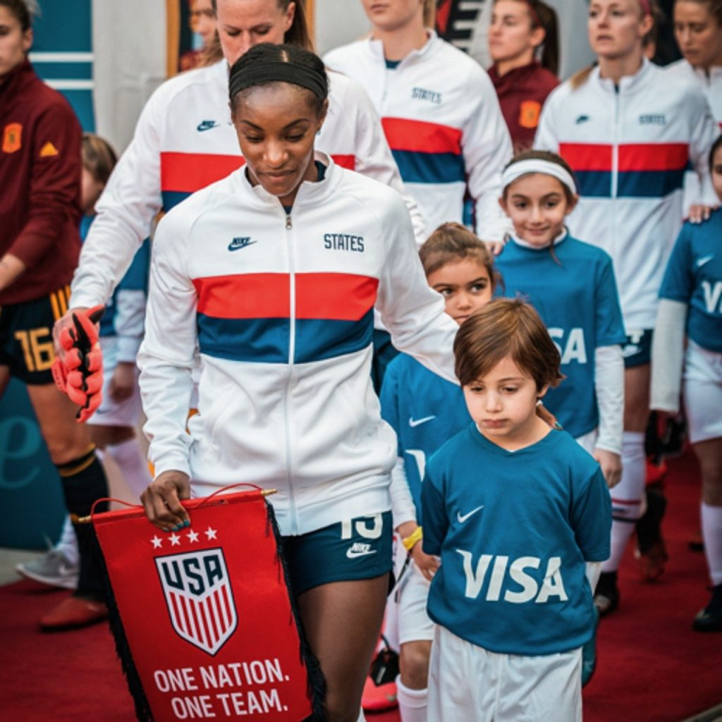 Crystal Dunn USWNT Defender strong on the ball